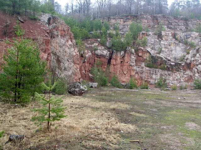 Czerwona Góra, kamieniołom Zygmuntówka