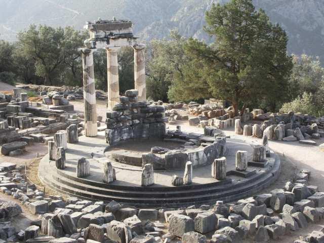 Tolos i resztki świątyni Ateny