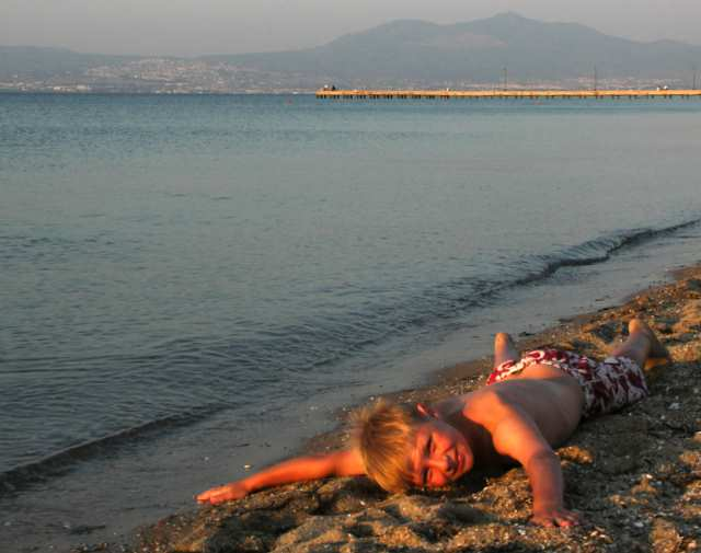Grejca plaża Agia Triada Morze Egejskie