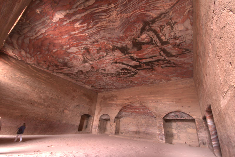 wnętrze grobowca Petra