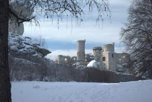 zamek Ogrodzieniec, ruiny, Podzamcze