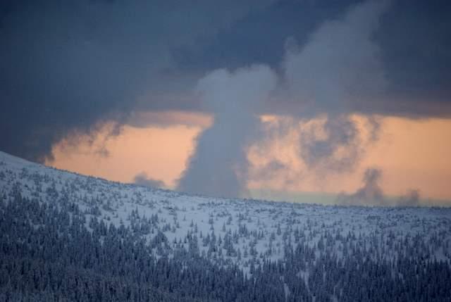 Karkonosze, chmury