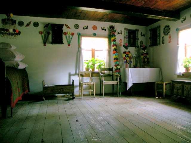 Wnętrze chaty kurpowskiej