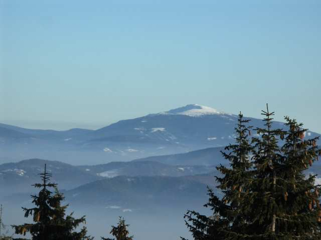 Barania Góra  - Babia Góra na horyzoncie
