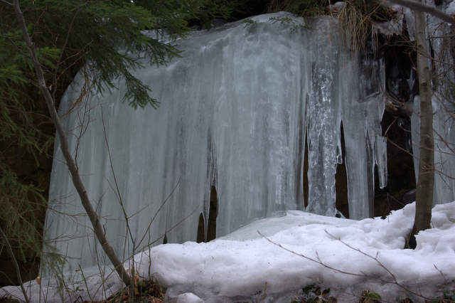Kaskady Rodła, lodospad