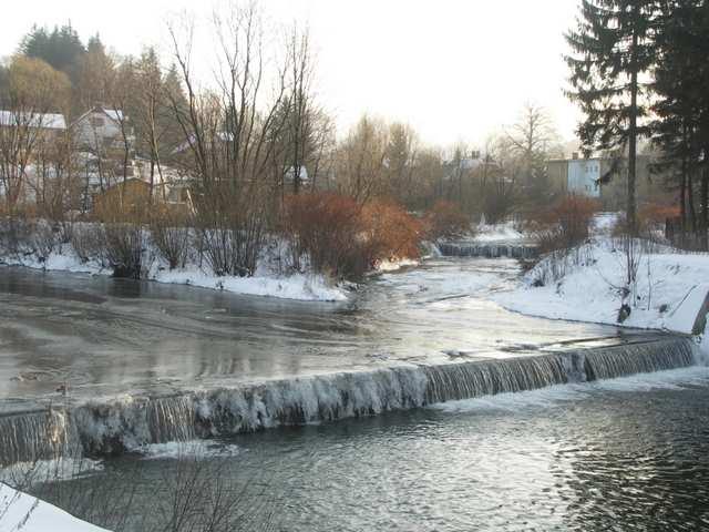 Rzeka Wisła i jej dopływ Kopydło