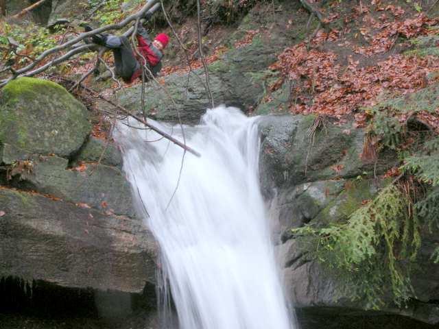 Wodospad w Wiśle, Kaskady Rodła