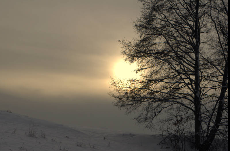 zachód słońca na polach
