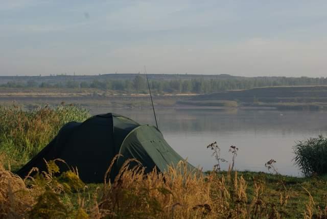 Jezioro Farskie - wędkarze
