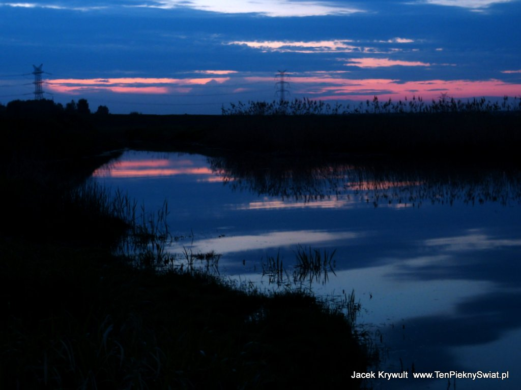 jezioro o zmroku Dzierżno