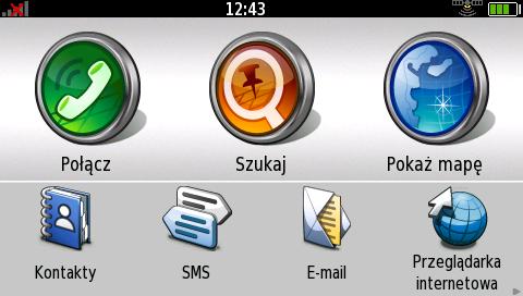 ekran główny nuvifone G60