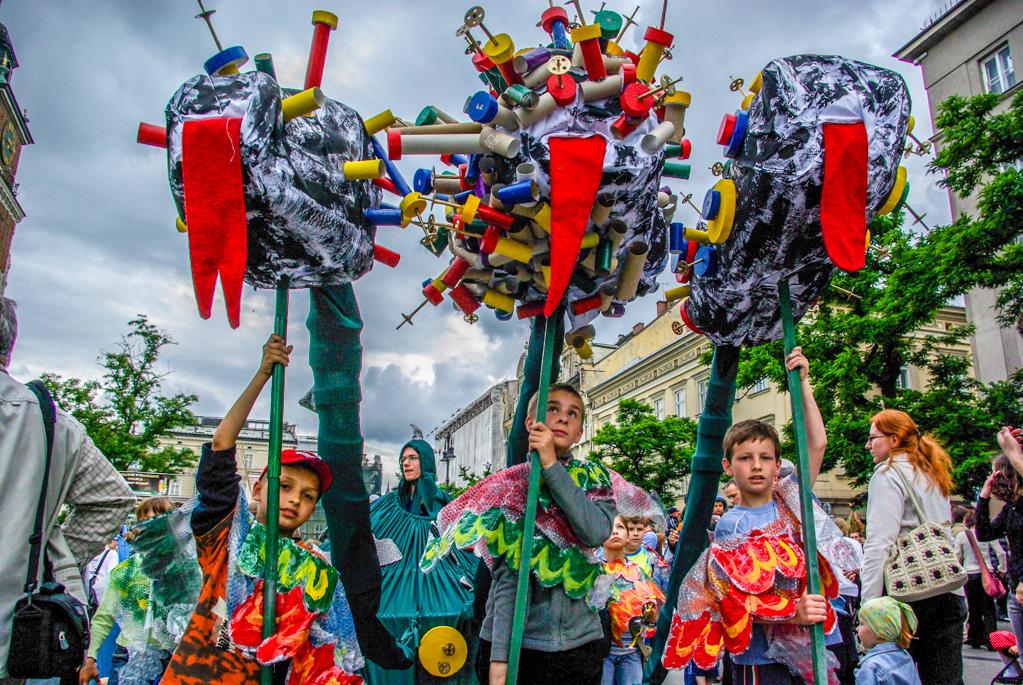 Kraków - festiwal Wielka Parada Smoków jako przykład, ze pomysły nigdy się nie kończą.