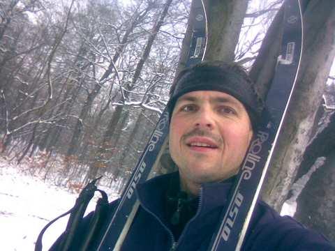 Pierwszy dzień na nartach Las Łabędzki
