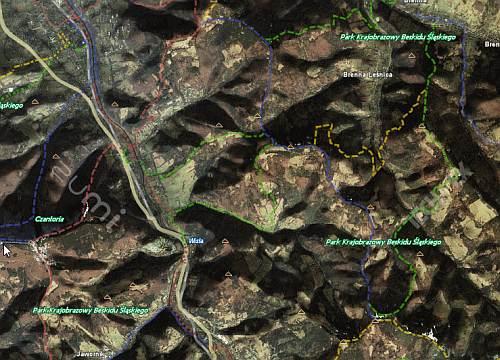 szlaki turystyczne, mapa , zumi