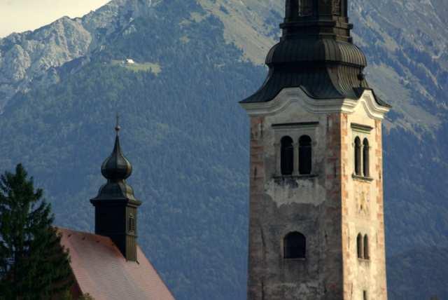 Barokowy kościół na jeziorze Bled