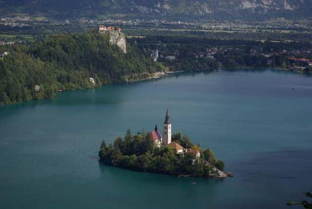 Bled, wyspa na jeziorze Bled
