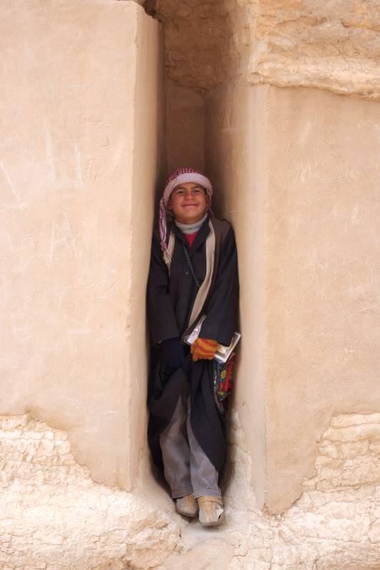 Mieszkaniec Palmyry- sprzedawca pamiątek