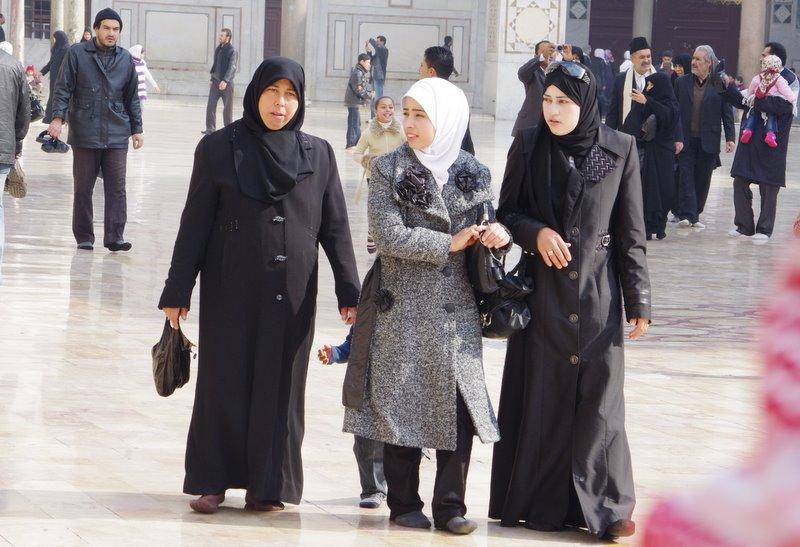 muzułmanki Meczet Umajjadów Damaszek