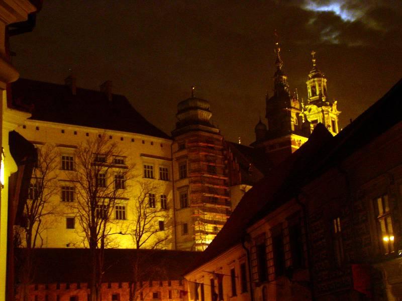 Kraków nocą, Wawel