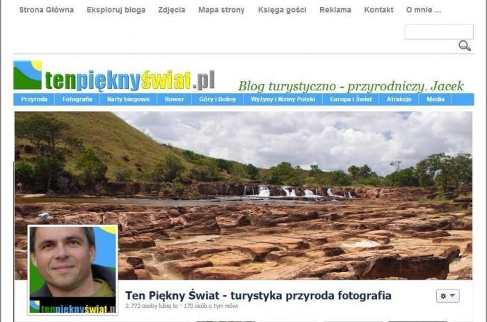 Blog Ten Piękny Świat i zdjęcie z jego profilu na Facebooku