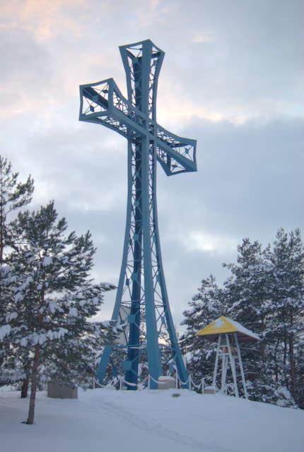 Kobyla Góra, krzyż misyjny