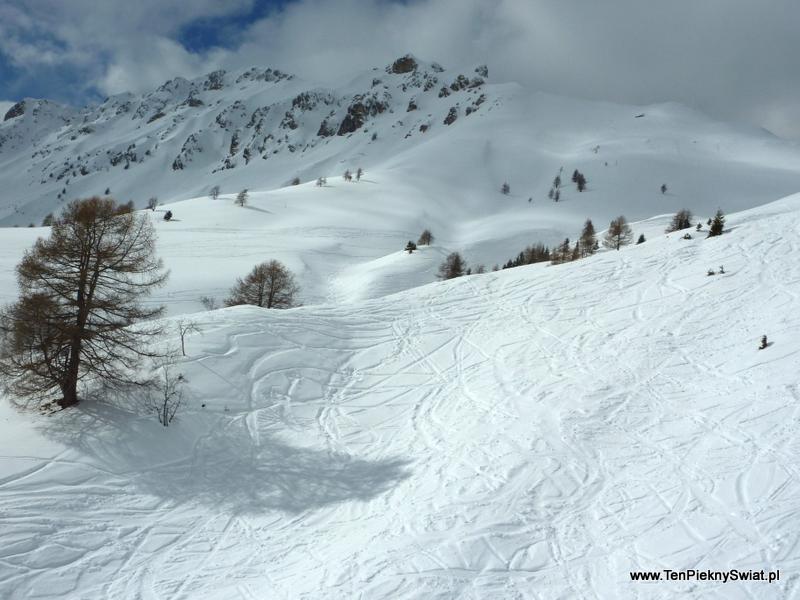 jazda na nartach w puchu