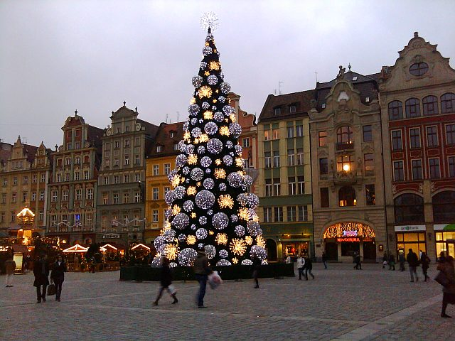 Wrocław, rynek ,choinka