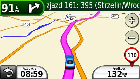 nawigacja  Gliwice Wrocław